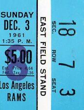 1961 DEBUT YEAR FOR MINNESOTA VIKINGS AND FRAN TARKENTON TICKET STUB