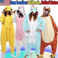US Kigurumi Pajamas Onesi1 Anime Cosplay Costume Unisex Adult Kids Sleepwear