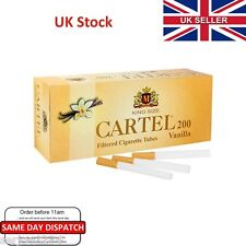 200x CARTEL Vanilla Flavour Cigarette Filter Tubes - Make Your Own Like Rizla