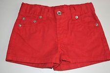 New Oscar de la Renta Girls's Cotton Lipstick Ferrari Red  Twill Shorts 4 Years