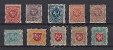 N530 Lituania 1919 yvert 25/34 nuovi linguellati euro 25.-