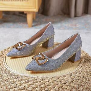 Women's high heels suede pointed toe fashion large size thick heel 5cm