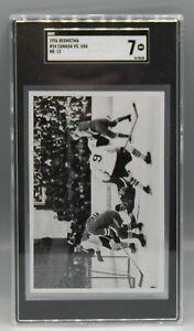 1936 German OLYMPICS Reemstma card SGC 7 United States HOCKEY Canada HIGH GRADE