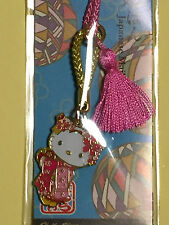F/S Hello Kitty Cute Key Chain Strap Maiko-han Pink Accessory from Kyoto Japan