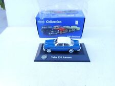 ATLAS 1:43 DIECAST VOLVO 120 AMAZON IN BLUE  / WHITE ROOF NM BOXED RARE!!