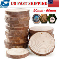 25 Wooden Wood Log Slices Natural Tree Bark Round Shape Tableware Decor Wedding