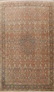 Antique Pre-1900 Vegetable Dye Haj-Jalili Area Rug Medallion Hand-knotted 10x14