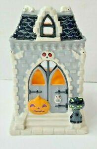Bath & Body Works Halloween Haunted House Soap Holder Black Cat Pumpkin