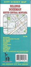 City Street Map of Billings, Bozeman, South Central Montana, by GMJ Maps