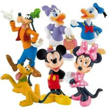 Bullyland Disney Mickey Mouse Clubhouse Figure Figurines Toy Cake Toppers 6-pk