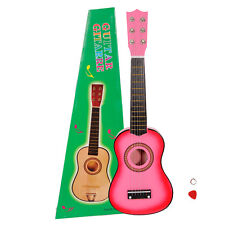 """21"""" Beginners Kids Acoustic Guitar 6 String with Pick Children Kids Gift Pink"""