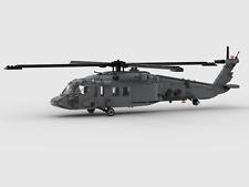 Custom LEGO Set UH-60 A/L Blackhawk Black Hawk Transport Helicopter INSTRUCTIONS