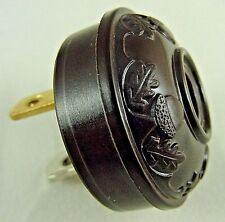 ANTIQUE STYLE ACORN and OAK LEAF EMBOSSED ELECTRIC LAMP LIGHTING PLUG