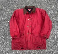Vintage 90's Marlboro Country Red Barn Coat Size XL *Stained*