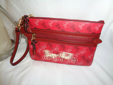 Coach Gallery Pouch in Horse and Carriage Print Bright Red Cherry F84635