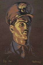 "Rare PAUL CADMUS Signed 1955 Original Color Screenprint - ""Carabiniere"""