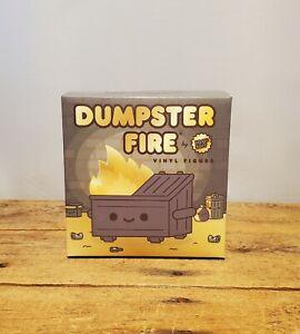 Dumpster Fire Black and Gold Vinyl Figure 100soft x Kidrobot