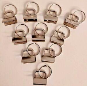 Keyfob key fob hardware x10 lanyard keyring split rings purse making fastening