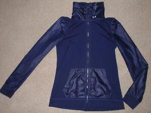 Womens Sz Small Under Armour UA Studio Essential Athletic Track Running Jacket 2