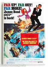 On Her Majesty's Secret Service FRIDGE MAGNET (2.5 x 3.5 inches) movie poster