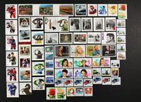 CANADA 2014 collection of 72 different booklet and coil, Die Cut stamps Mint NH