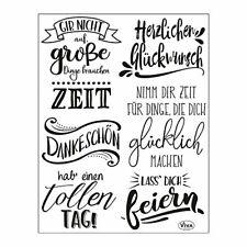 Viva Decor®? Clear-Stamps (Lettering Deutsch) Silikon Stempel - Prägung