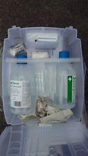 CMS Medical First Aid Eye Wash Sterile Saline Solution Pad Bandage Station Kit