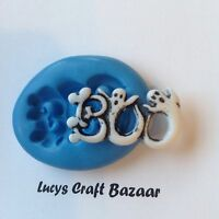 Silicone Mould Ghostly Boo Scary Halloween Sugarcraft Cake Decorating Icing Fimo
