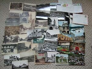 Lot of 38 Vintage French Postcards Carte Postale New & Used