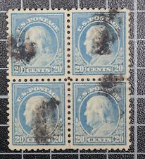 Scott 476 20 Cents Franklin Block Of 4 Used CV $130.00