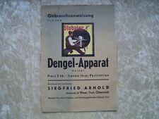 STUBAI DENGELAPPARAT/ KRÖSBACHER 3 PROSPEKTE von ca. 1930 bis ca. 1980 ! !