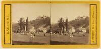 Francia Uriage-Les-Bains Foto Stereo Alfred Michaud c1865 Albumina Vintage