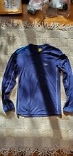 Icebreaker GT 150 Merino Wool Long Sleeve Running Crew Top Men's Small Navy Blue