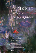 ORIGINAL FRENCH POSTER MONET 2009 CYCLE DES NYMPHEAS MUSEE LA ORANGERIE 63 X 47