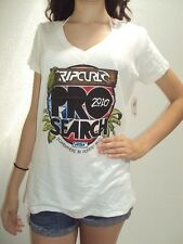 NEW RIP CURL WOMEN POSTER V NECK TEE SHIRT TOP Cotton XLARGE also fit large V145