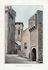 82 VAREN PORTE DE LA VILLE ET TOUR DU CHATEAU IMAGE COULEUR 1903