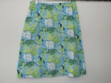 Lilly Pulitzer Vintage Skirt SZ 16 The Lilly 1980s Elephant Lion Tiger Bird