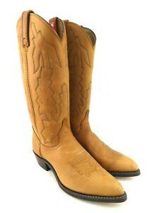 Dan Post Women's Cowboy Boots US 7M Marlboro Tan Pointed Toe Embroidered #P2552