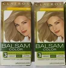 2 Clairol Balsam Permanent Hair Color Dark Blonde 604 Lot of 2