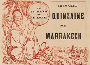 Original Vintage Poster - M. Lalaurie - Grande Quinzaine de Marrakech - c. 1915
