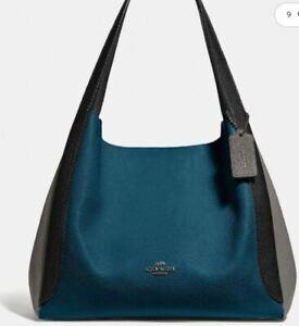 COACH HADLEY HOBO SHOULDER BAG IN COLORBLOCKNWT PEACOCK MULTI 76088
