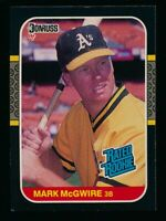 Mark McGwire RC ⚾ 1987 Donruss #46 Rated Rookie NM-MT Athletics