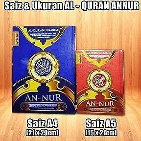 AL QURAN ANNUR RUMI size A4 & A5 (TERBARU)