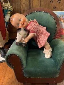 """Vintage Ralph Freundlich BABY SANDY Composition Doll;11"""";sleep eyes,original"""