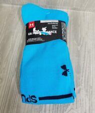 UNDER ARMOUR Tottenham Hotspur Blue Away Soccer OTC Socks Mens XL 13-16 2pack