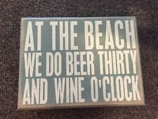 Nwt Primatives By Kathy Beach Beer Thirty Wine O'Clock Shadow Box