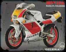 GILERA SP 02 125 90 1 A4 metal sign moto Vintage Aged