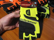 Wells Lamont Grips Half Finger Hand Tool Equipment Driving Gloves A841YM Size M