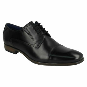 BUGATTI 312-40201-1000-1000 MENS LACE UP FORMAL OXFORDS BLACK LEATHER SHOES