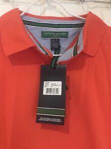 Tommy Hilfiger Golf pique polo Shirt TM100. M, Grenadine (orange) BNWT RRP £60